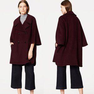 NWOT Loft Purple Wool Cape Coat XS